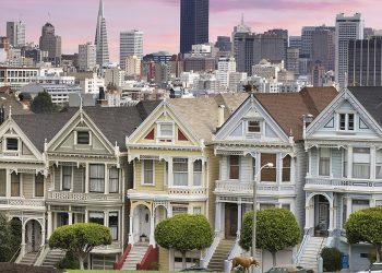 Armstrong Painting - exterior painting of painted ladies iconic San Francisco Victorian homes