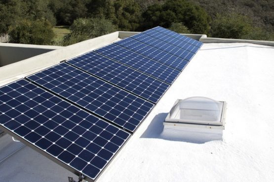 SPF Roofing with solar panels