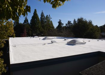 Armstrong Roofing - flat residential roof protected with spf roofing system