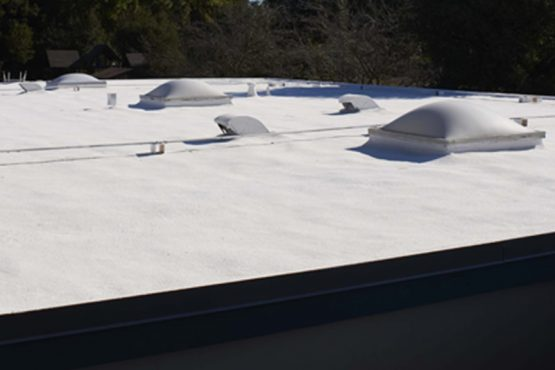 Armstrong Roofing - spf flat roof with skylights
