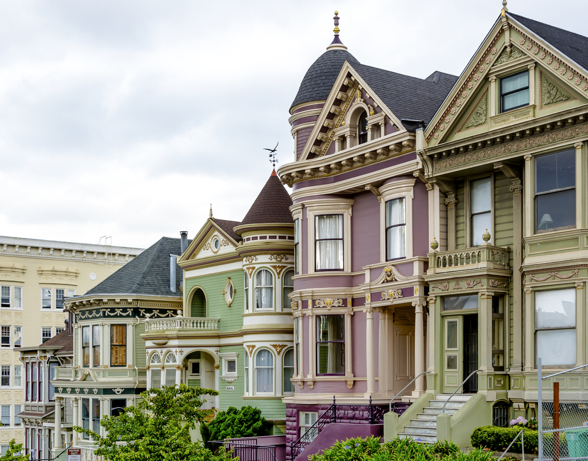 Traditional Victorian Houses In San Francisco Armstrong